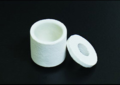 ceramic crucible for the analysis
