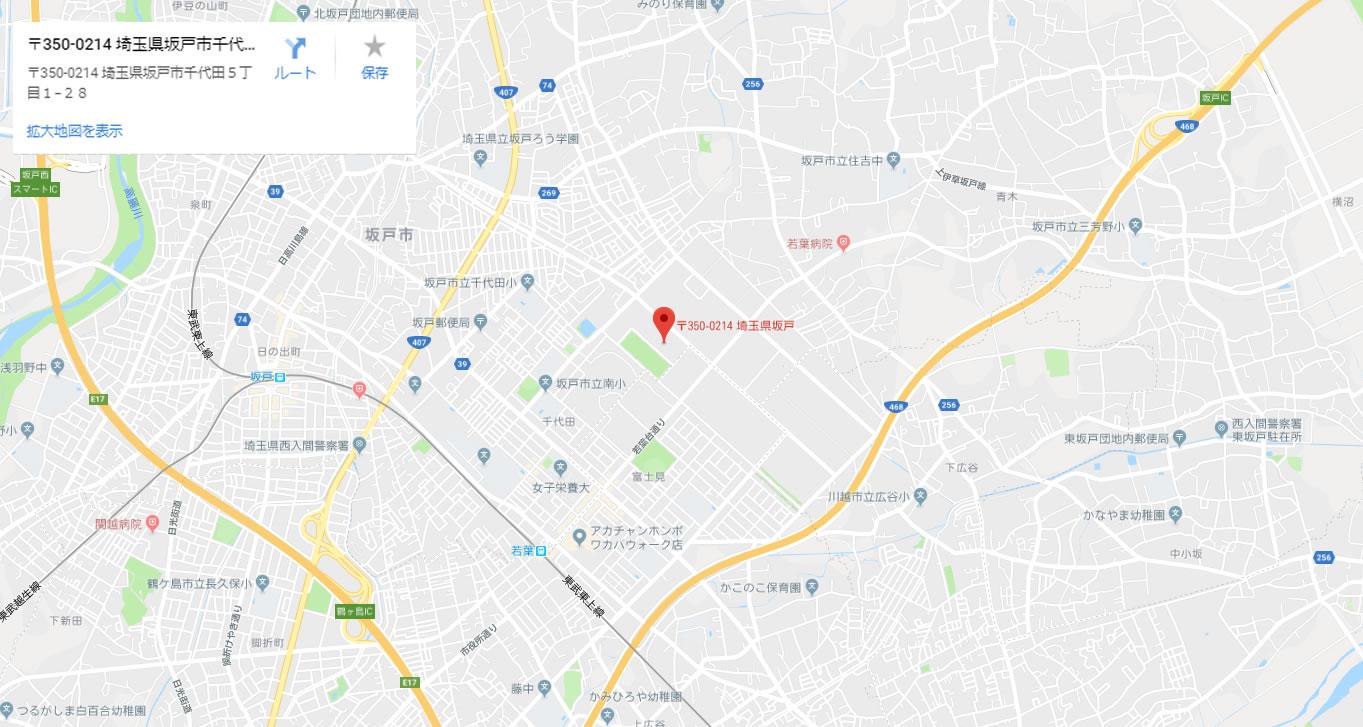 本社・本社工場地図